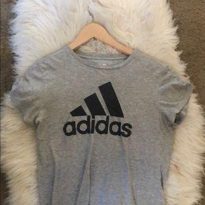 Adidas Gray Short Sleeve Top